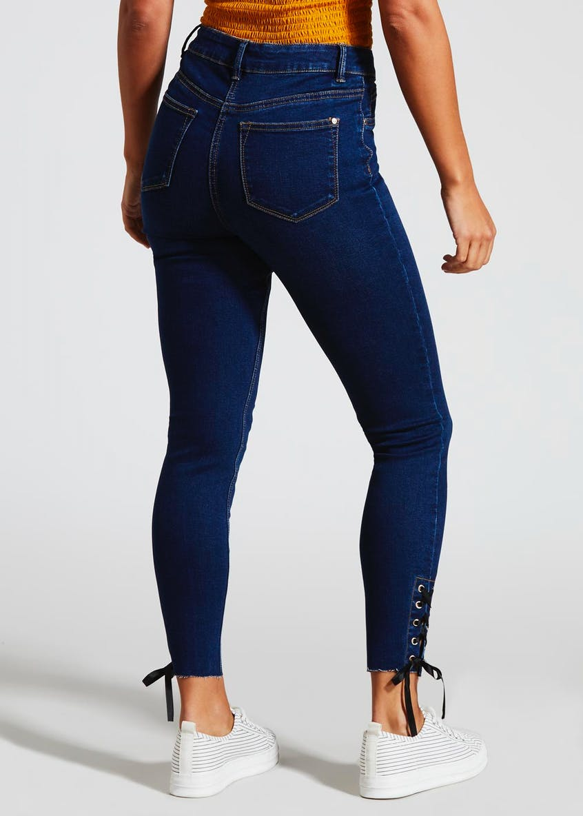 April Lace Hem Super Skinny Ankle Grazer Jeans