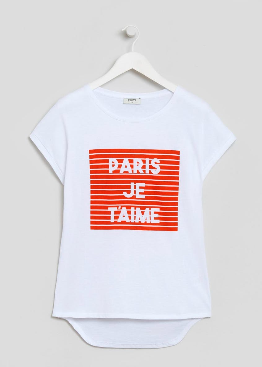 Paris Slogan T-Shirt