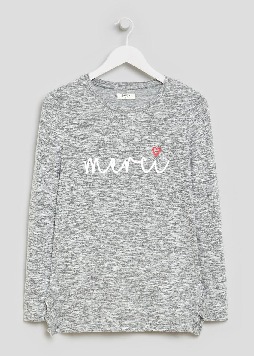 Merci Slogan Soft Touch Sweater