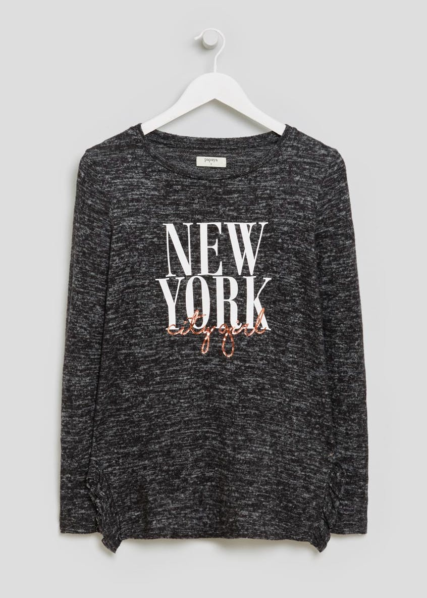 New York Slogan Soft Touch Sweater