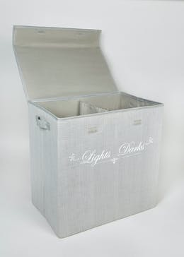 Collapsible Lights & Darks Section Laundry Bin (56cm x 55cm x 36cm)