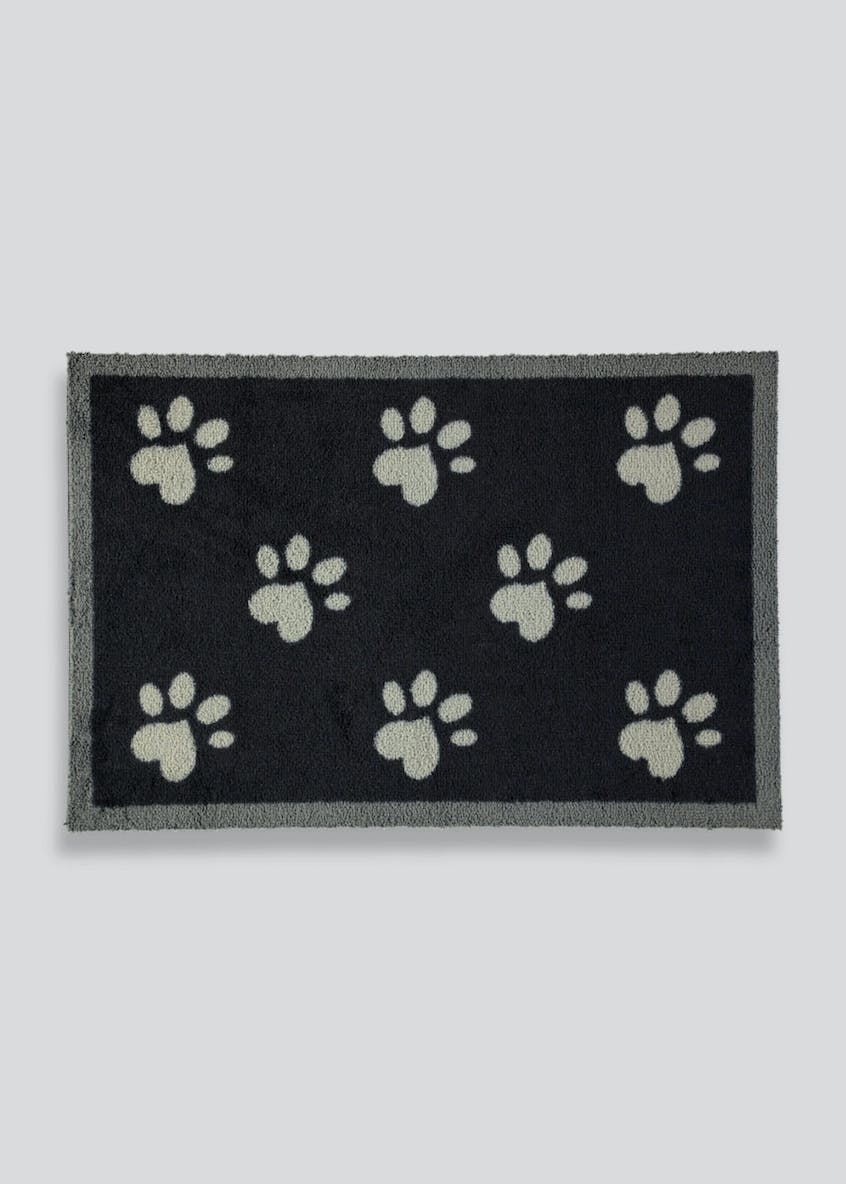 Paw Print Pet Muddle Mat (75cm x 50cm)