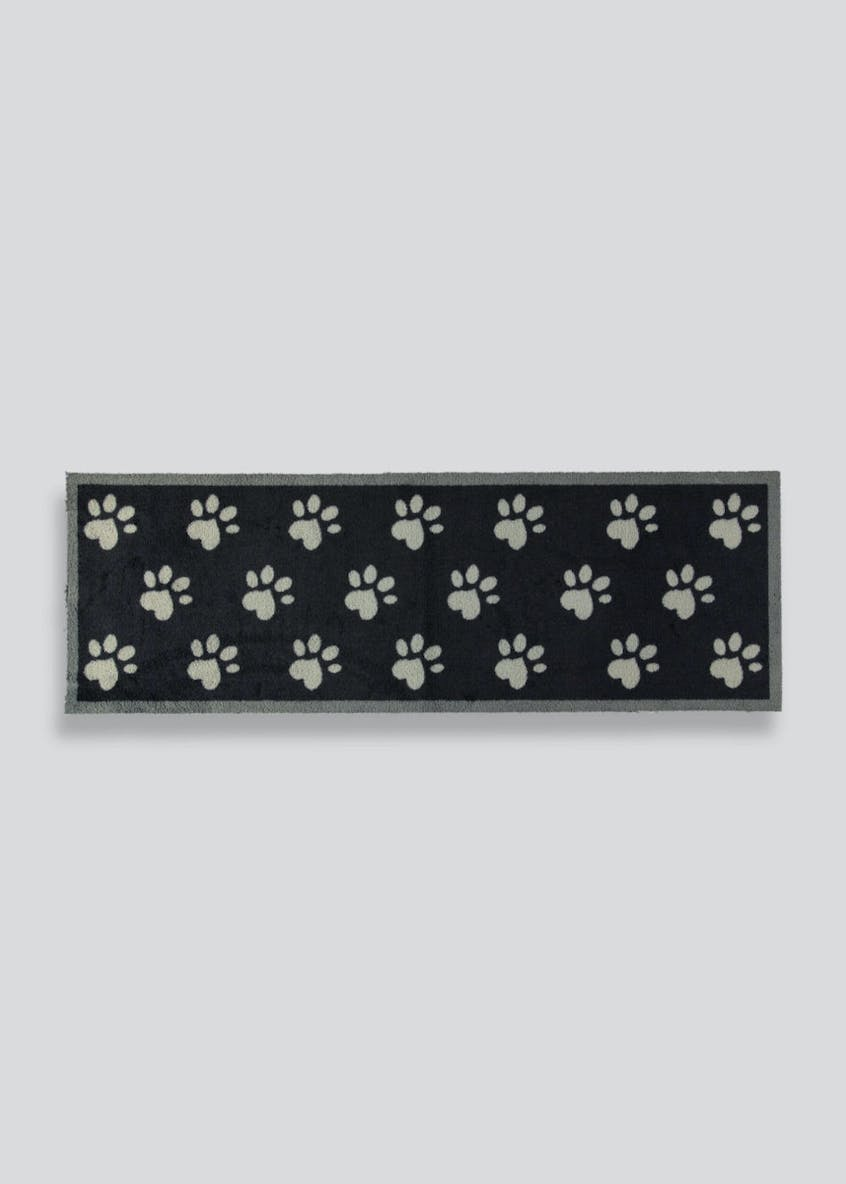 Paw Print Pet Runner Muddle Mat (150cm x 50cm)