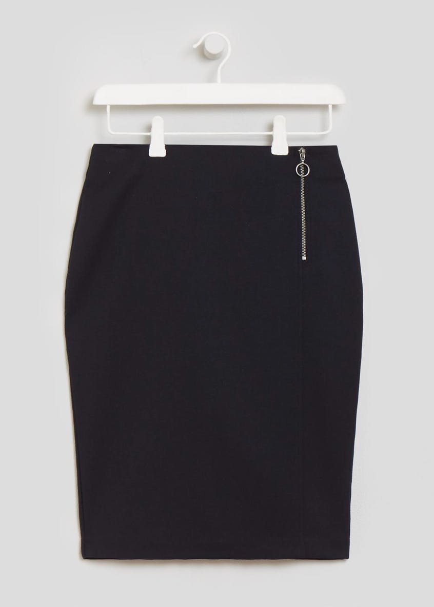 Papaya Petite Zip Suit Skirt