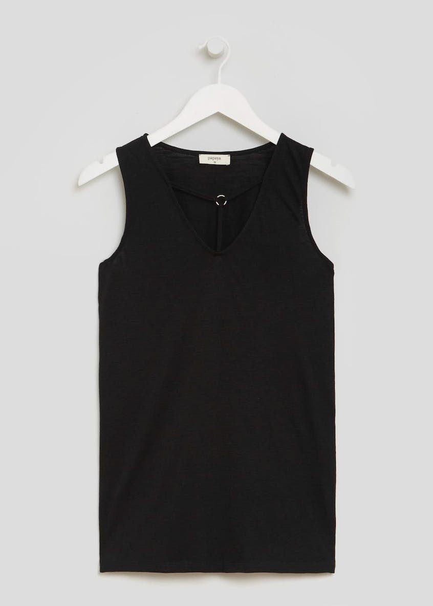 Cross Front Ring Vest Top