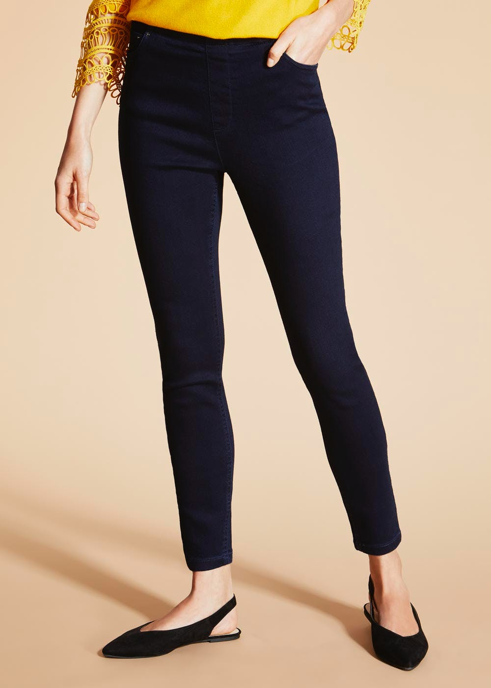 a3f912d9ed4c0 Soon 360 Stretch Jeggings – Navy – Matalan