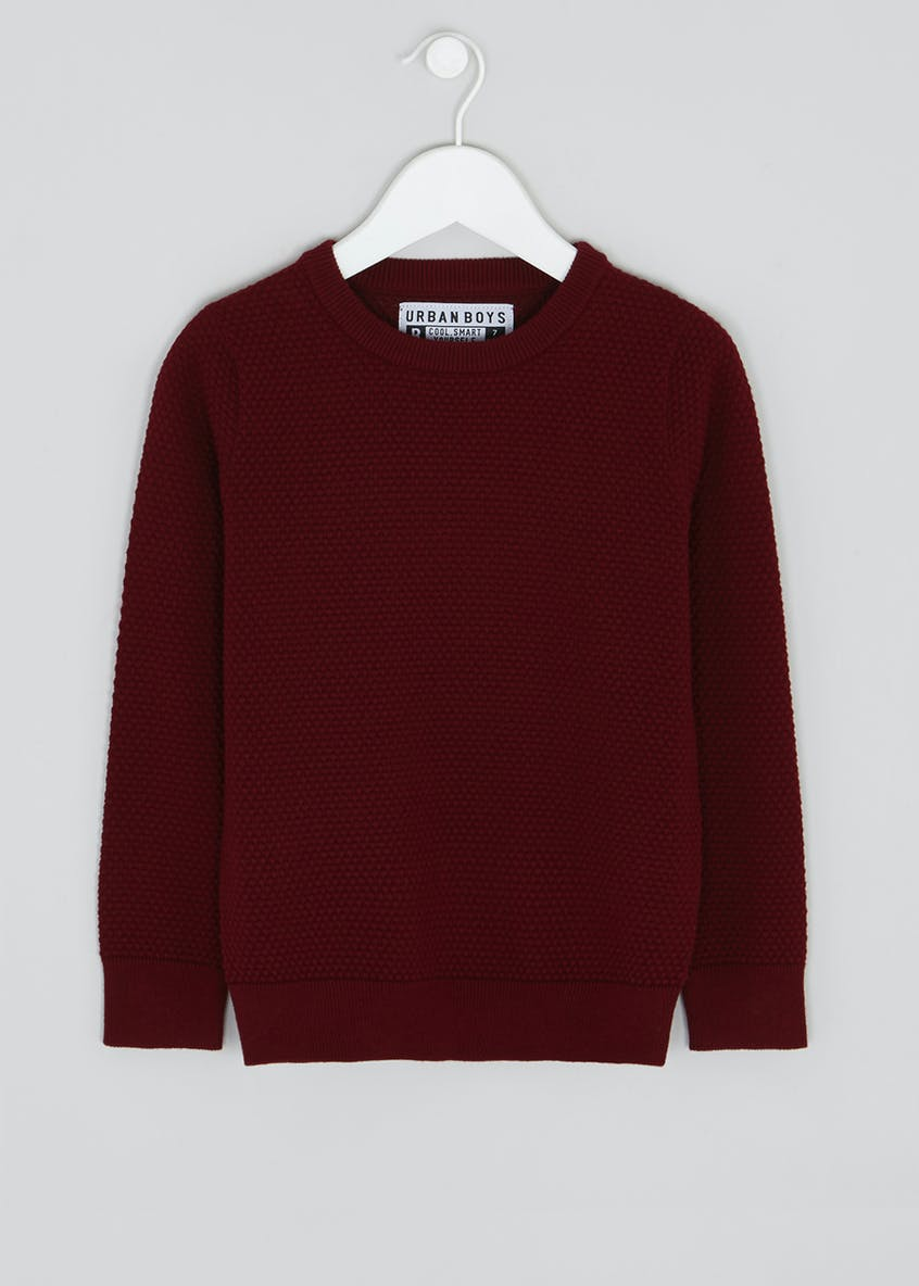 Boys Crew Neck Knitted Jumper (4-13yrs)