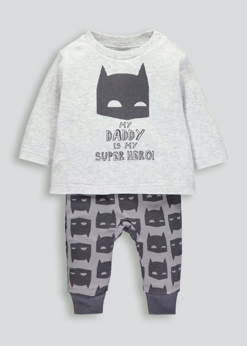 Unisex Batman Top & Leggings Set (Newborn-12mths)