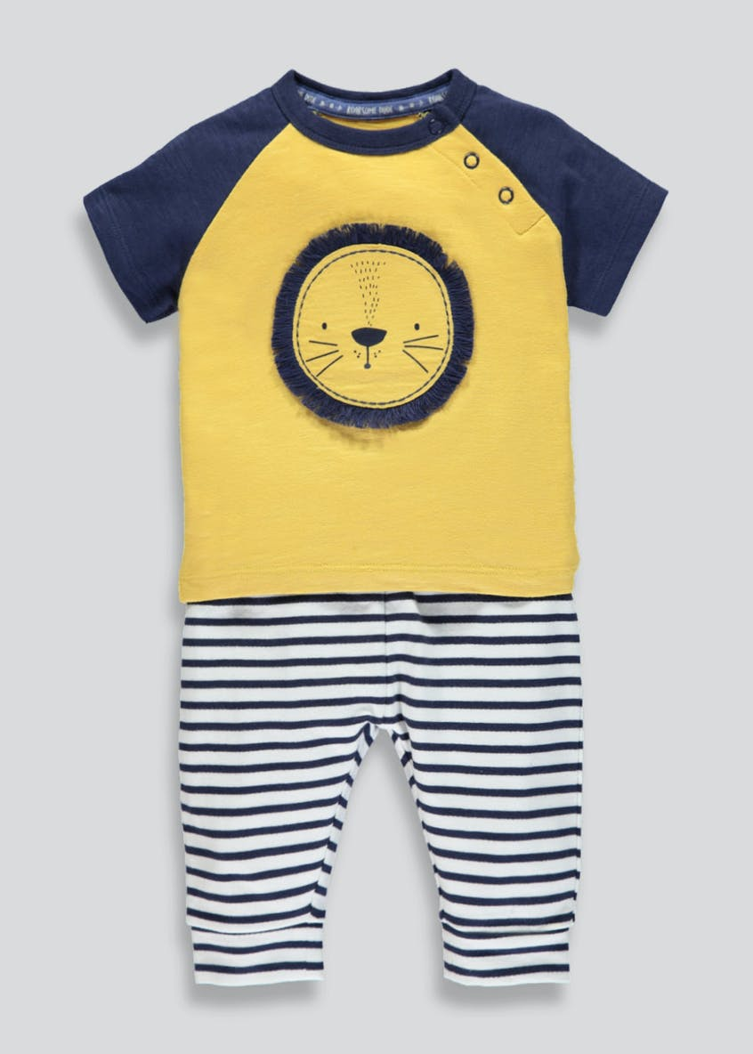 Unisex Lion T-Shirt & Jogging Bottoms Set (Newborn-18mths)