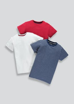 Boys 3 Pack Jersey T-Shirts (4-13yrs)