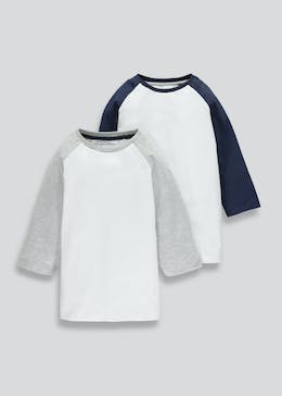 Boys 2 Pack Jersey T-Shirts (4-13yrs)