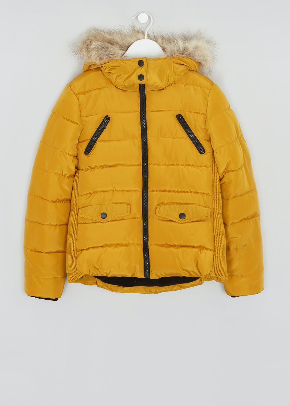 2f0f110ff6859 Girls Candy Couture Hooded Padded Coat (9-16yrs) – Ochre – Matalan