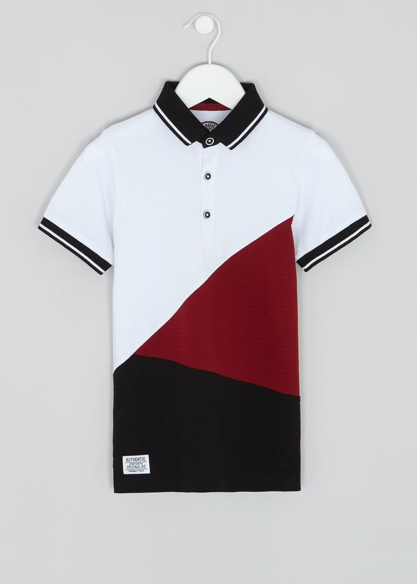 Mini Me Boys Cut and Sew Polo Shirt (4-13yrs)