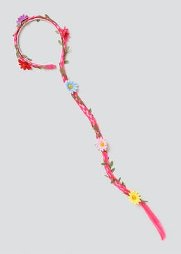 Fake Hair Flower Headband