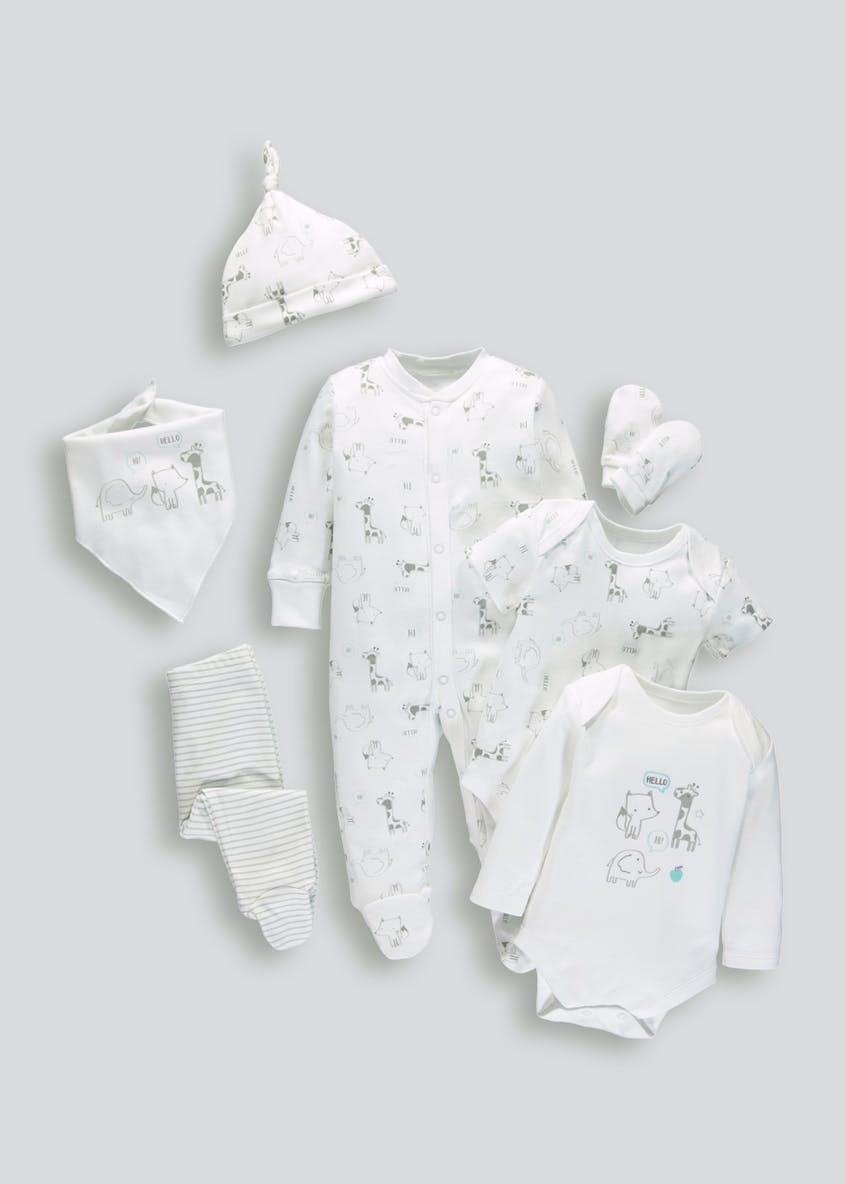 Unisex 7 Piece Set (Tiny Baby-9mths)