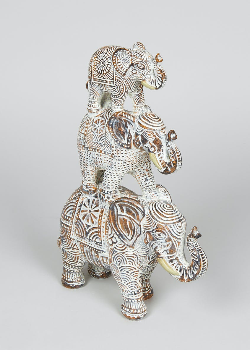 Stacked Elephant Ornament (33cm x 27cm)