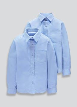 Girls 2 Pack Long Sleeve School Blouses (4-16yrs)