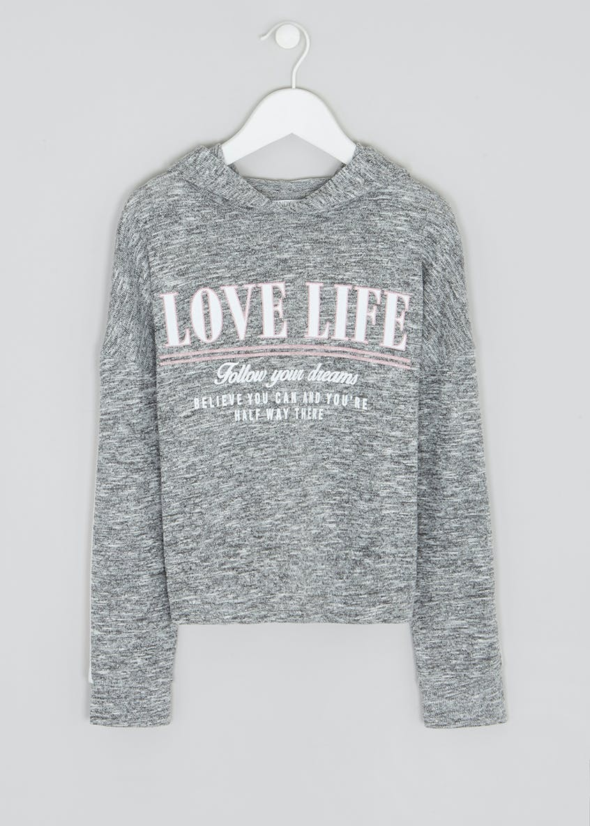 Girls Candy Couture Love Slogan Snit Top (9-16yrs)