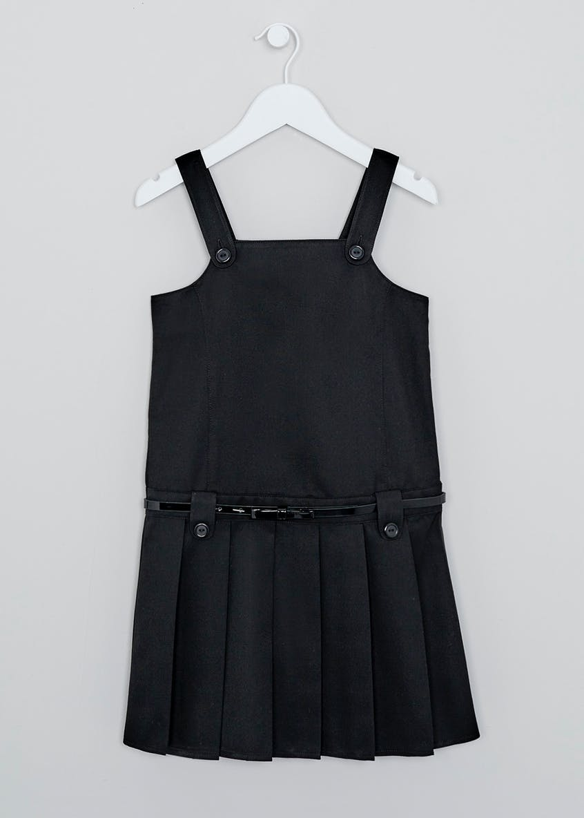 Girls Belted Box Pleat School Pinafore (3-16yrs)