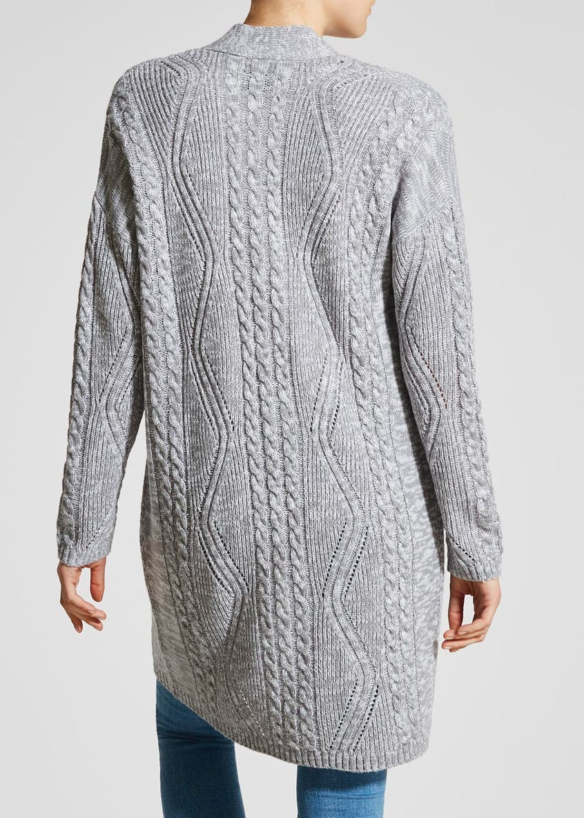 Longline Edge to Edge Cable Cardigan