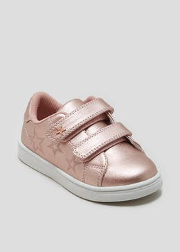 Girls Metallic Star Riptape Strap Trainers (Younger 4-12)
