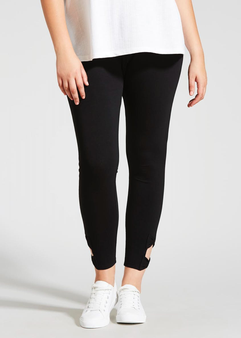Papaya Curve Cut-Out Ankle Leggings
