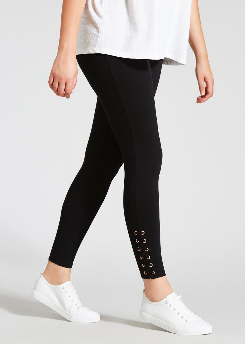 Papaya Curve Eyelet Lace Up Leggings