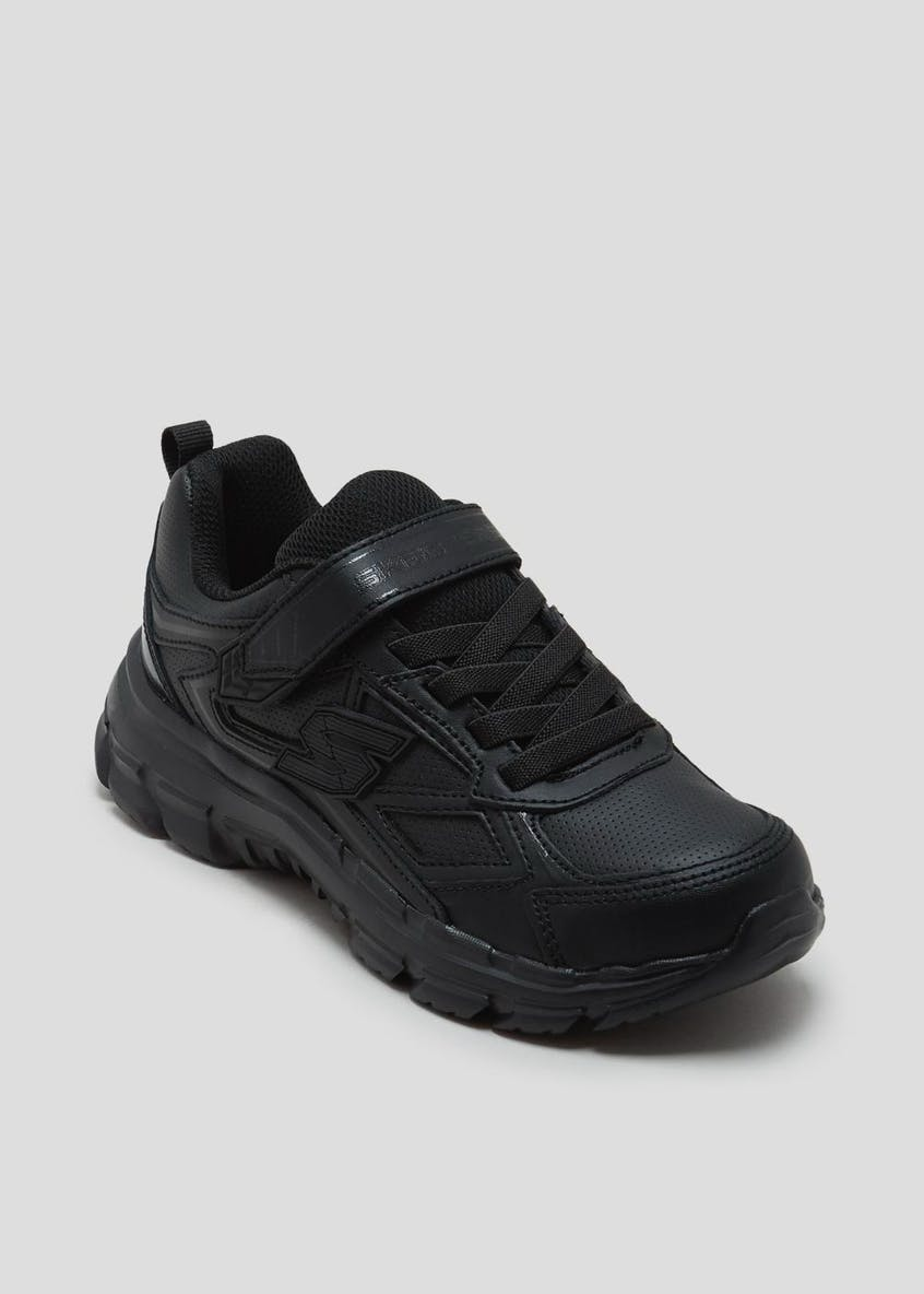 Boys Skechers Nitrate Microblast School Trainers (Younger 10-Older 6)