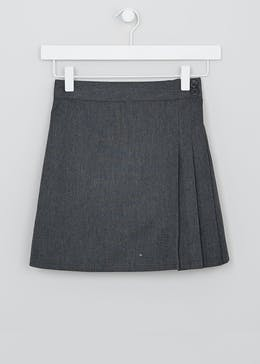Girls Embroidered Wrap School Skirt (3-13yrs)