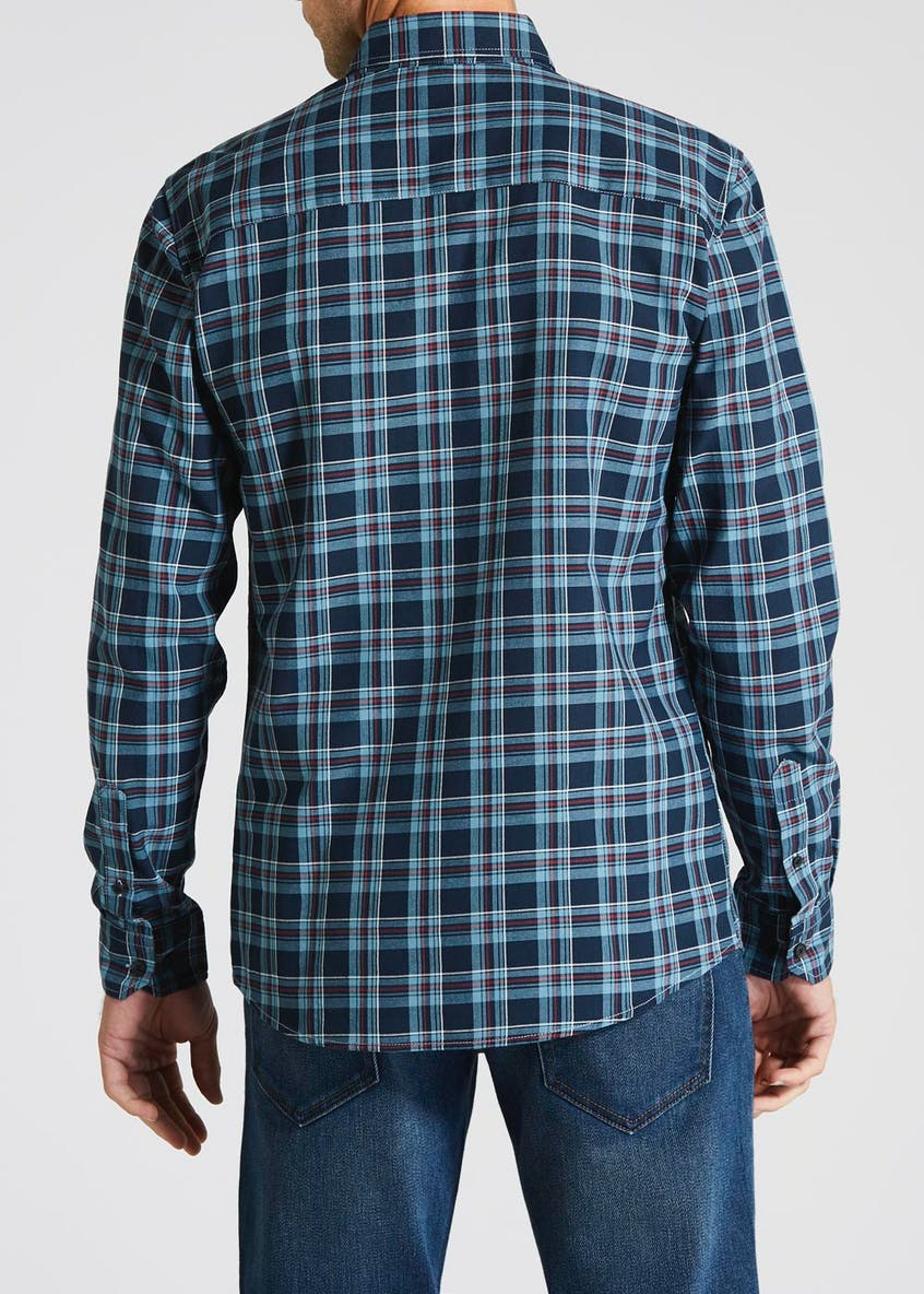 Long Sleeve Oxford Check Shirt