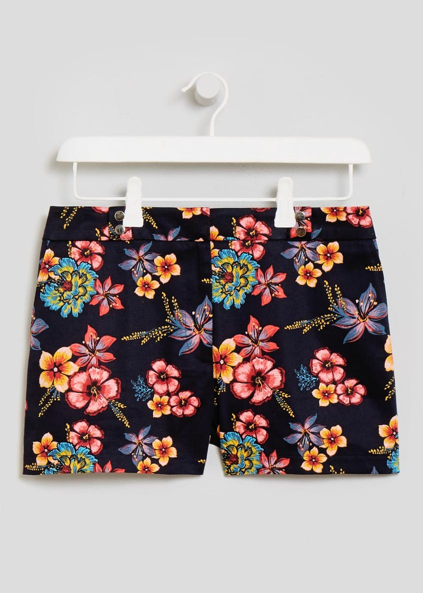 Floral Woven Shorts