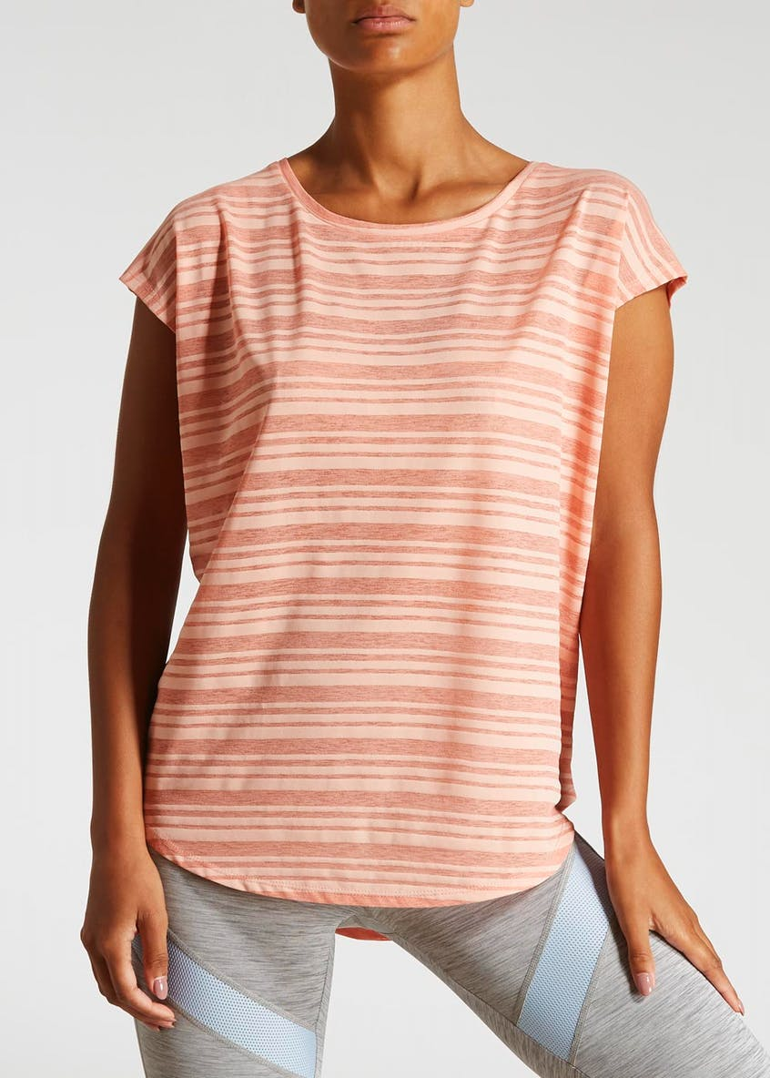 Souluxe Burnout Stripe Gym T-Shirt