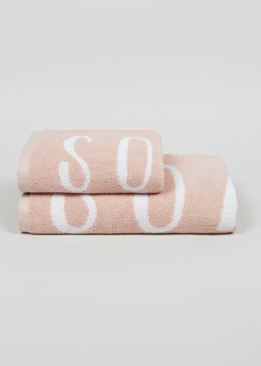 100% Cotton Soak Slogan Towels
