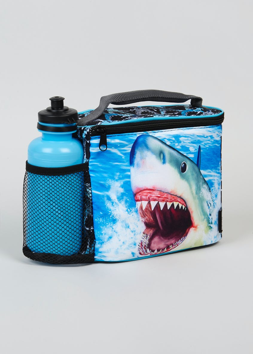 Kids Shark Lunch Bag & Water Bottle