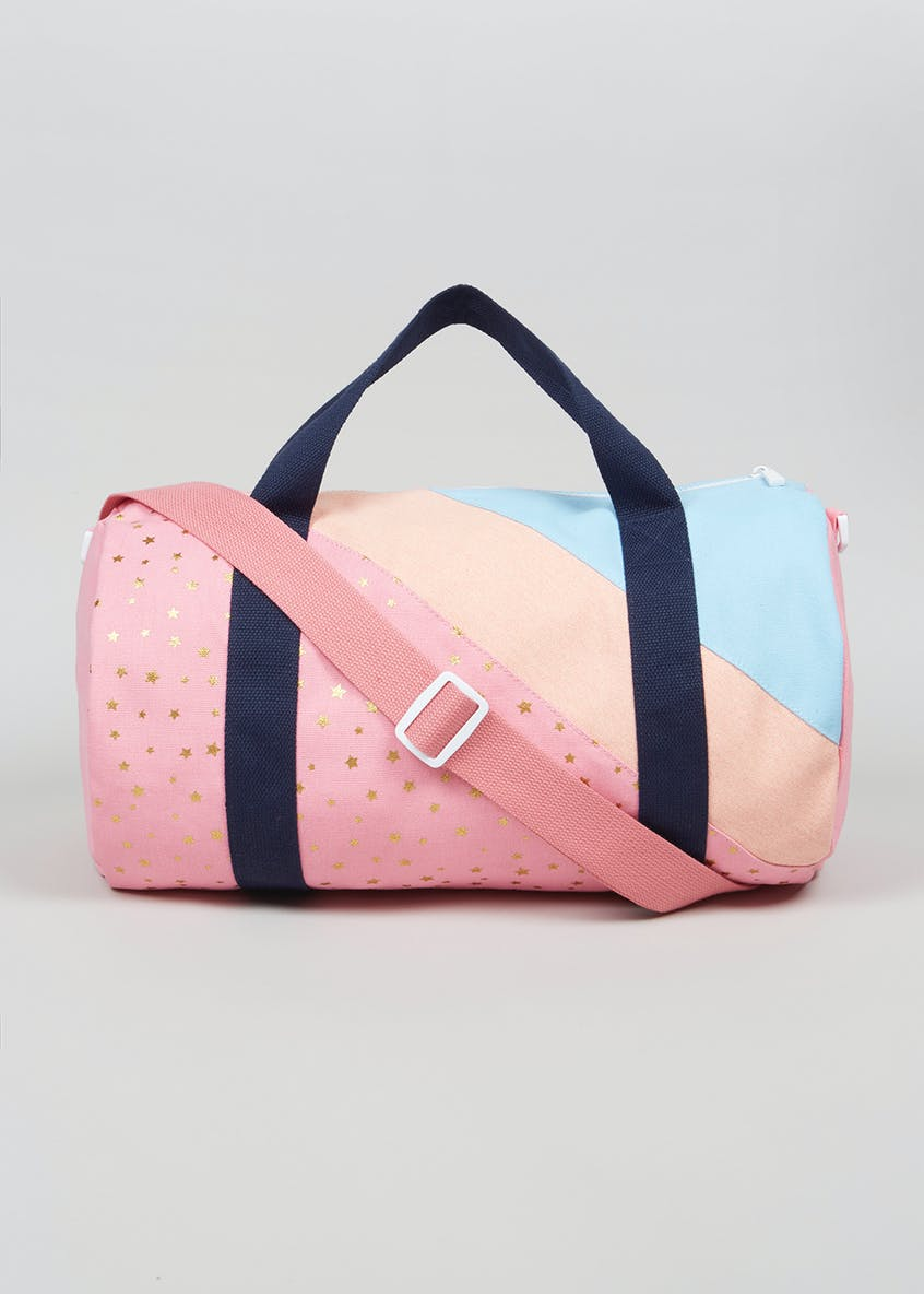 Girls Star Sleepover Barrel Bag