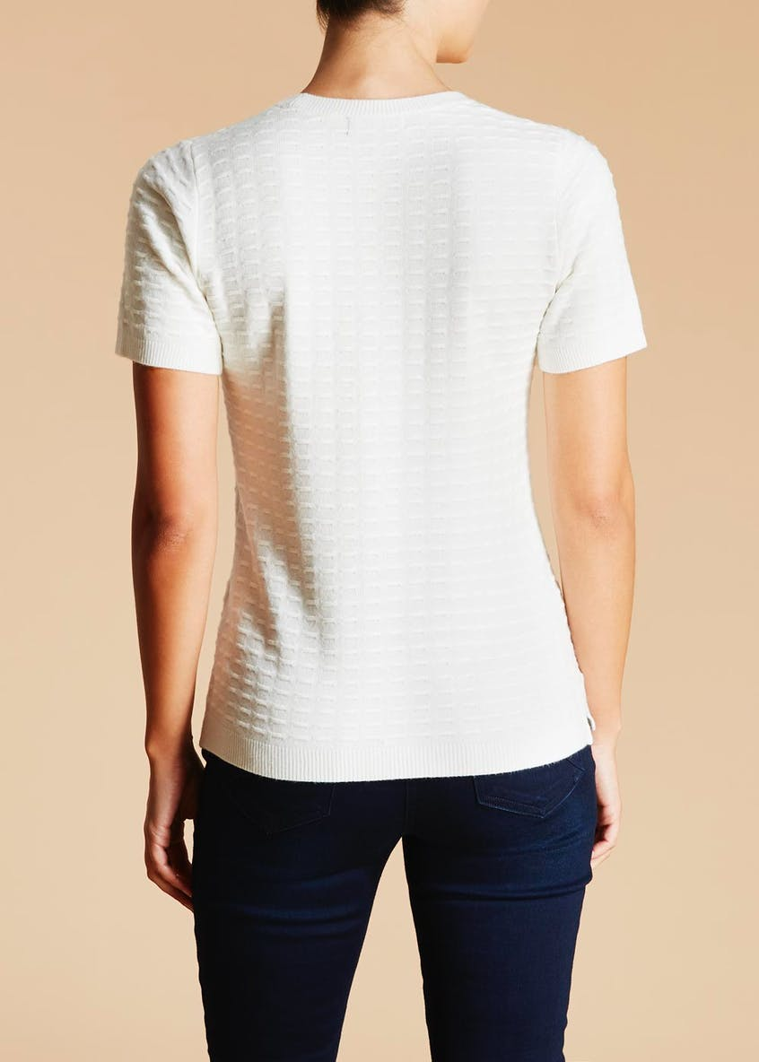 Super Soft Textured Short Sleeve Jumper
