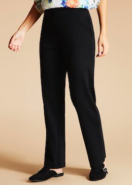 Straight Leg Ponte Trousers