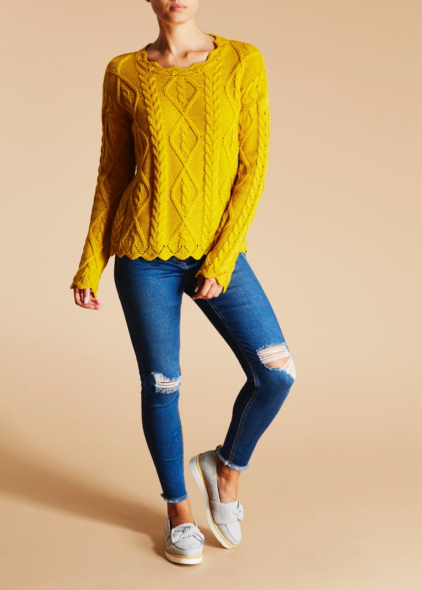 Scalloped Pointelle Jumper