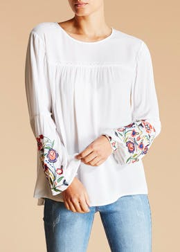 Falmer Floral Embroidered Blouse
