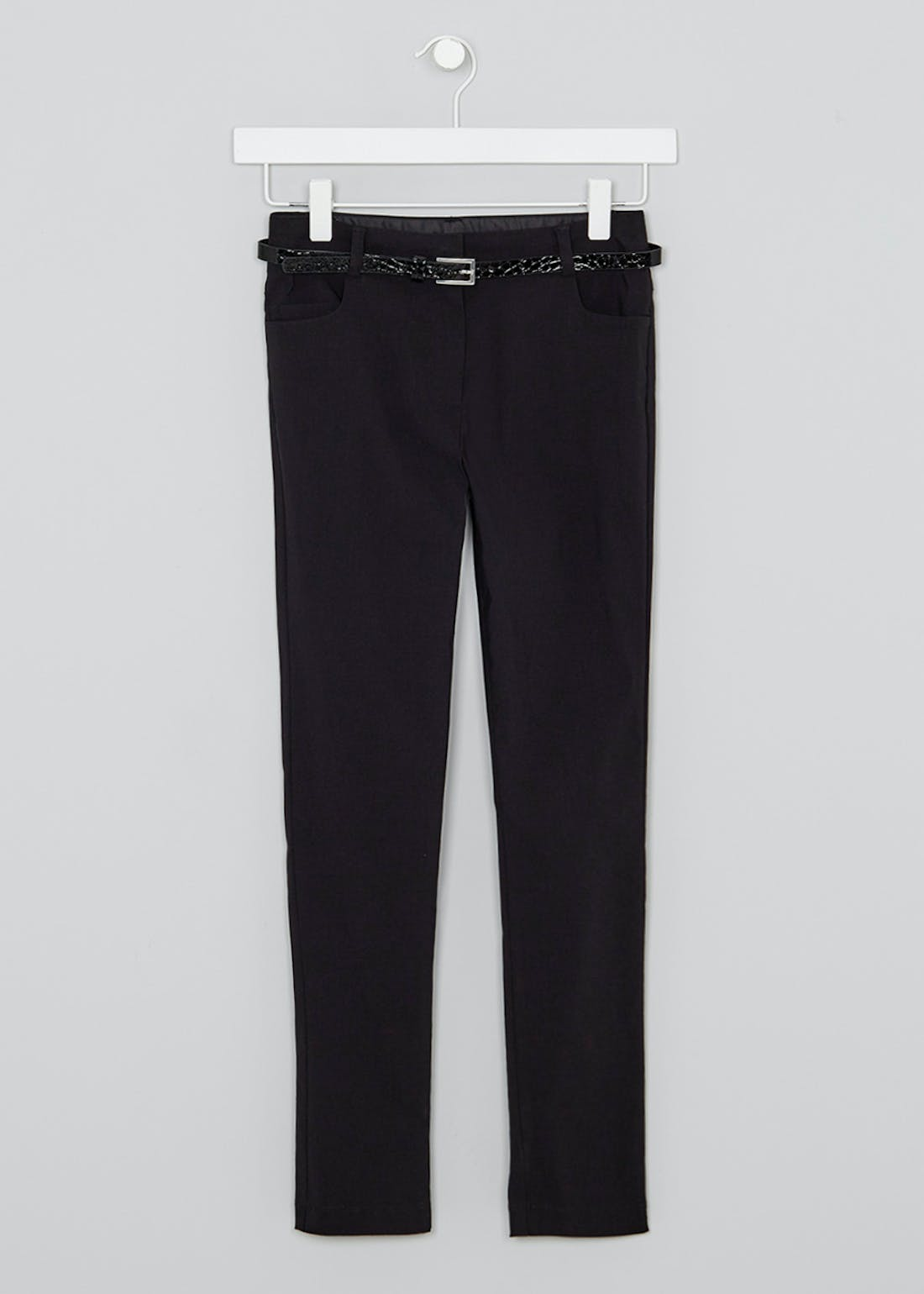 Girls Belted Skinny School Trousers (8-16yrs)