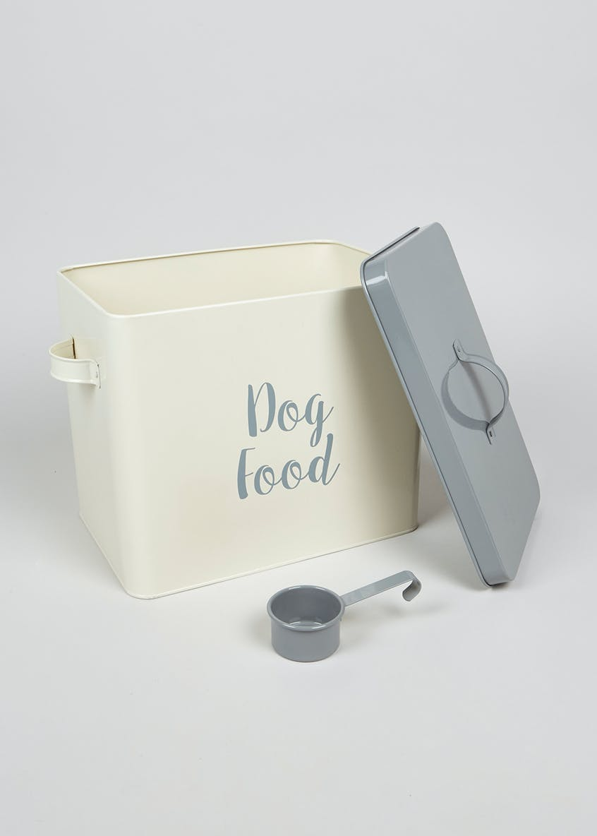 Dog Food Tin & Scoop (25cm x 20cm)