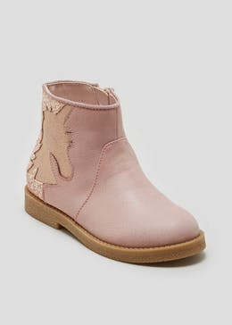 Girls Unicorn Gusset Boots (Younger 4-12)