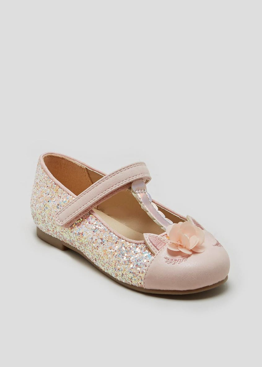 Girls Glitter Unicorn Ballet Shoes (Younger 4-12)