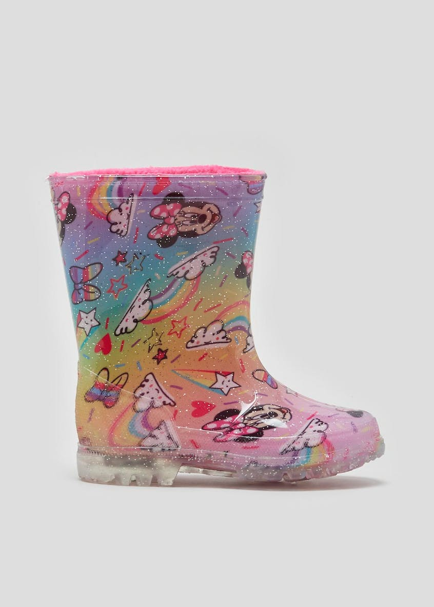 Kids Disney Minnie Mouse Light Up Wellies (Younger 4-9)