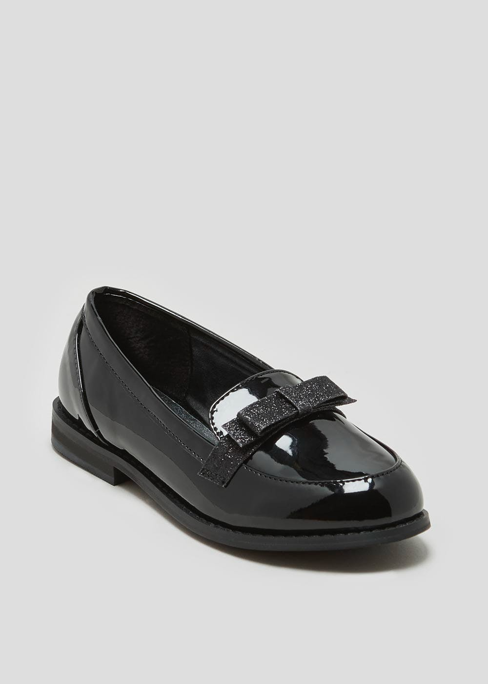 Girls Wide Fit Patent Loafer School