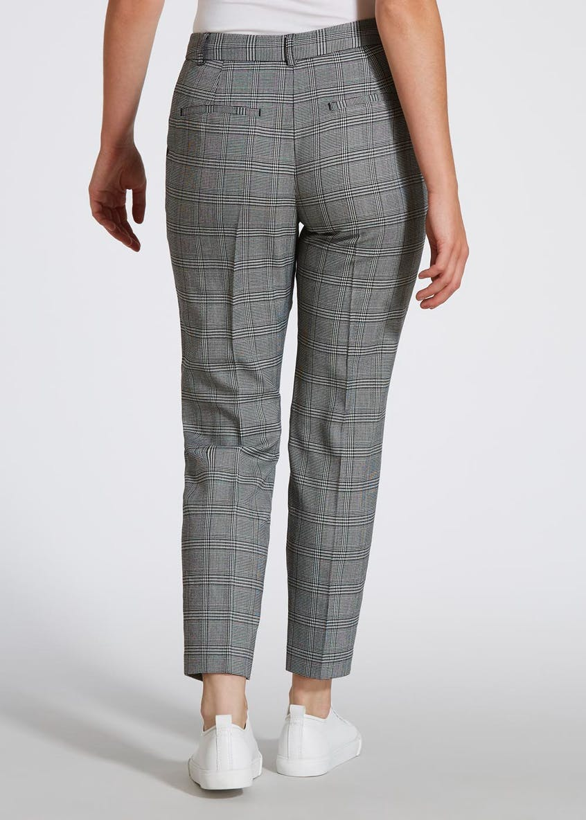 Papaya Petite Check Trousers