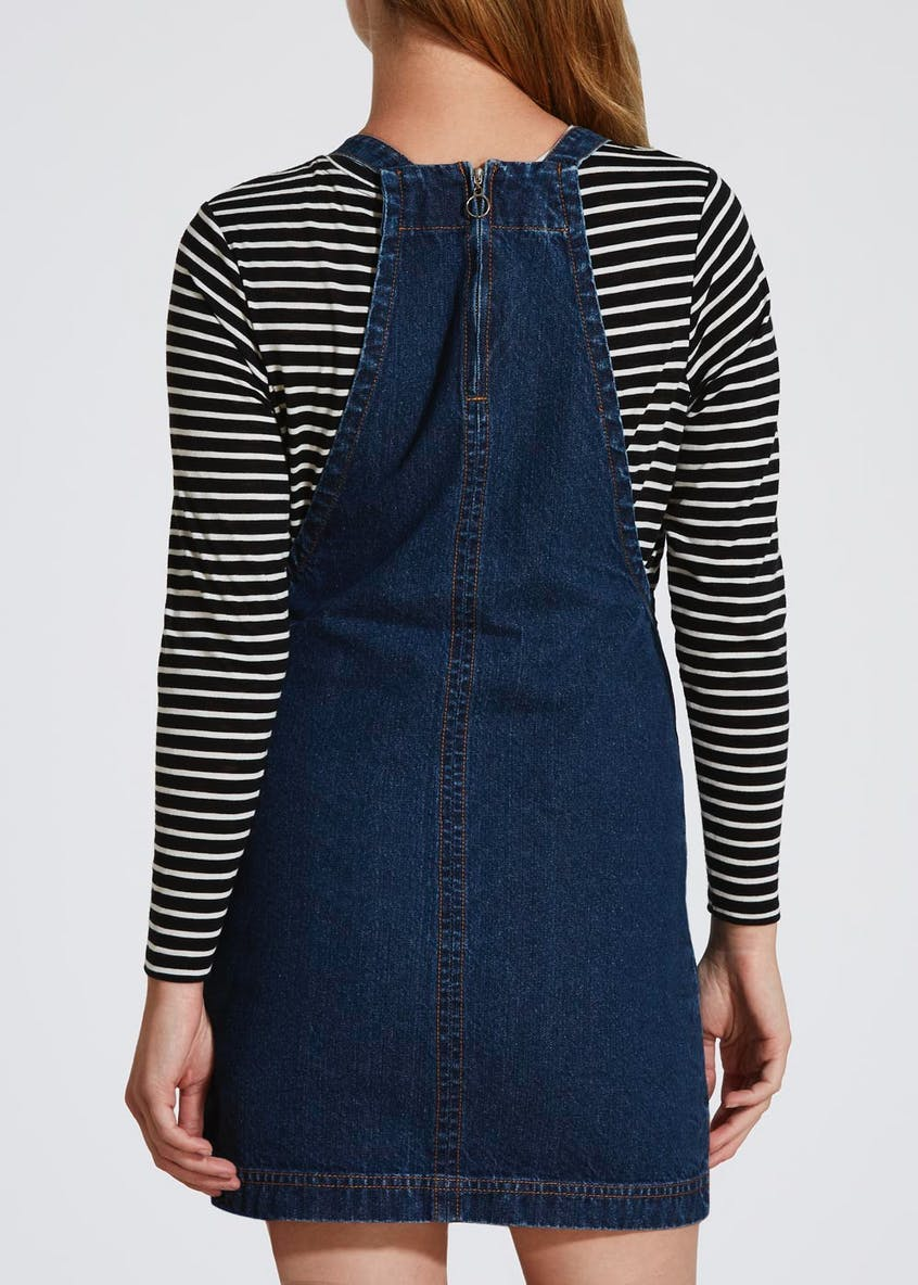 Papaya Petite Denim Pinafore - Darkwash
