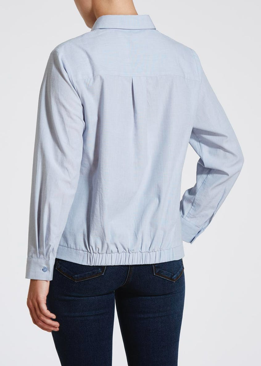 Papaya Petite Twist Front Shirt