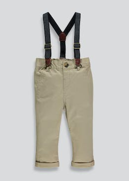 Boys Chinos with Braces (3mths-6yrs)