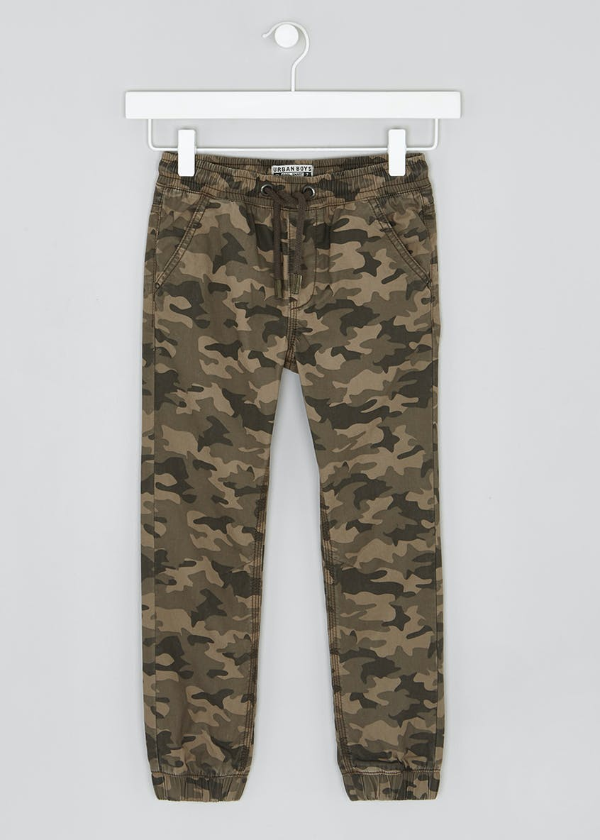 Boys Camo Print Trousers (4-13yrs)